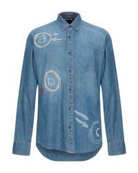 Camicia jeans di Desigual in Blue da Uomo
