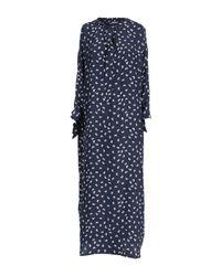 P.A.R.O.S.H. Blue Langes Kleid