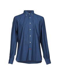 Isaia Blue Shirt for men