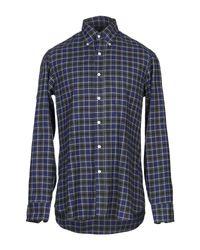 Camicia di Salvatore Piccolo in Blue da Uomo