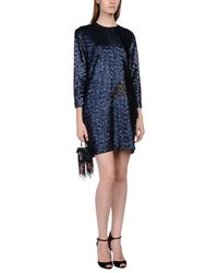 MSGM Blue Short Dress