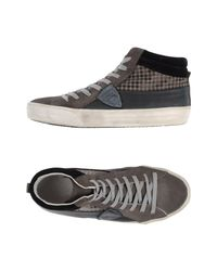 Philippe Model Gray High-tops & Sneakers for men