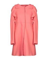 Manteau long Giambattista Valli en coloris Pink
