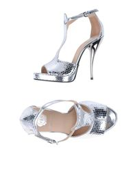Viktor & Rolf Metallic Platform Sandals