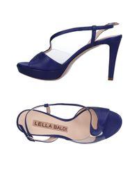 Lella Baldi - Purple Sandals - Lyst