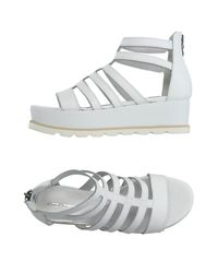 Accademia - White Sandals - Lyst