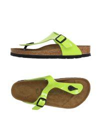 Birkenstock Green Toe Strap Sandal