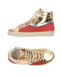 Leather Crown - Metallic High-tops & Sneakers - Lyst