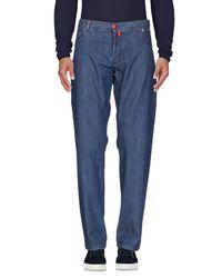 Kiton Blue Denim Trousers for men