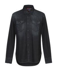 Camicia jeans di Acne in Black da Uomo