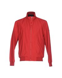 Geox Red Jacket for men