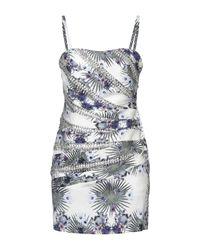 Philipp Plein Blue Kurzes Kleid