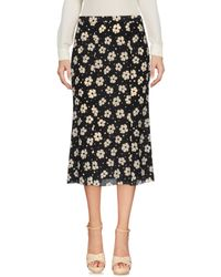 Bottega Veneta Black 3/4 Length Skirt