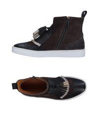 Santoni - Gray High-tops & Sneakers - Lyst