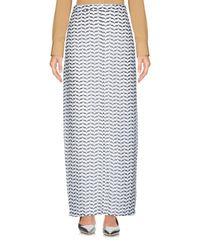 Silvian Heach White Long Skirt