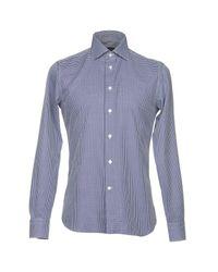 Angelo Nardelli Blue Shirt for men