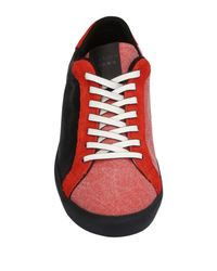 Leather Crown Red Low-tops & Sneakers for men