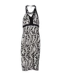 Clips White 3/4 Length Dress