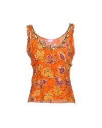 Blugirl Blumarine Orange Top