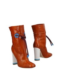 Malone Souliers Brown Woman Glossed-leather Ankle Boots Tan
