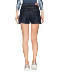 People Blue Denim Shorts