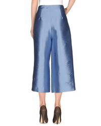 Erika Cavallini Semi Couture Blue 3/4-length Trousers