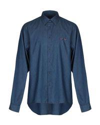 Camicia jeans di Altea in Blue da Uomo
