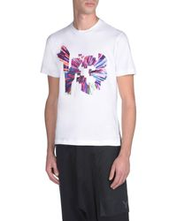Y-3 White Color Logo Tee for men