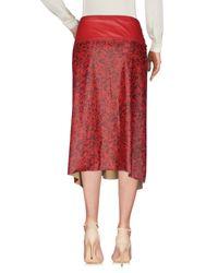 Manila Grace - Red 3/4 Length Skirts - Lyst