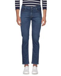 Yan Simmon Blue Denim Trousers for men