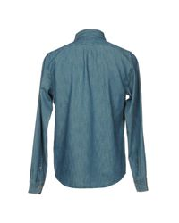 Lee Jeans Blue Denim Shirt for men