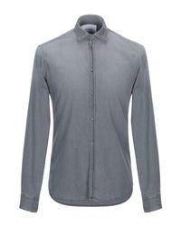 Aglini Gray Denim Shirt for men