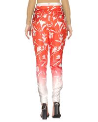 Blumarine Red Casual Trouser