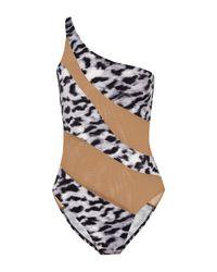 Norma Kamali Gray One-piece Swimsuit