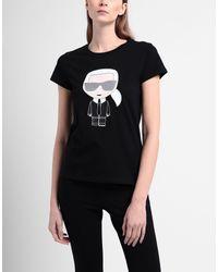 Karl Lagerfeld Black T-shirts