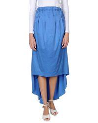 Jijil - Blue 3/4 Length Skirt - Lyst