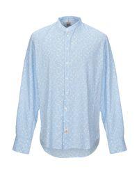 Camicia di Panama in Blue da Uomo