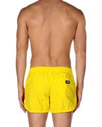 Moschino Yellow Swimming Trunks for men