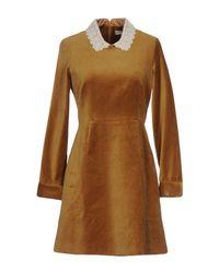 Paul & Joe Brown Short Dress