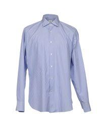 Camisa Truzzi de hombre de color Blue