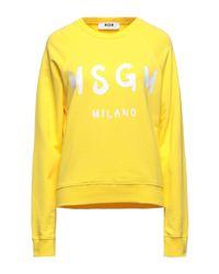 Felpa di MSGM in Yellow