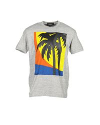DSquared² - Gray T-shirts for Men - Lyst