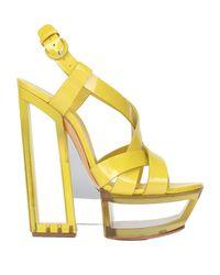 Casadei Yellow Sandale
