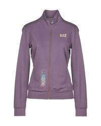 EA7 Purple Sweatshirts