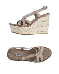 Miu Miu Gray Sandals