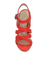 Paul Andrew Orange Sandals