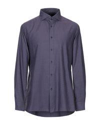 Camisa FLOWERS de hombre de color Purple