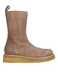 Rick Owens Brown Ankle Boots