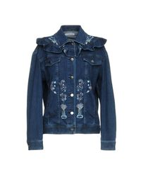 Vivetta Blue Denim Outerwear