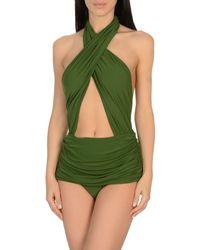 Costume intero di Norma Kamali in Green